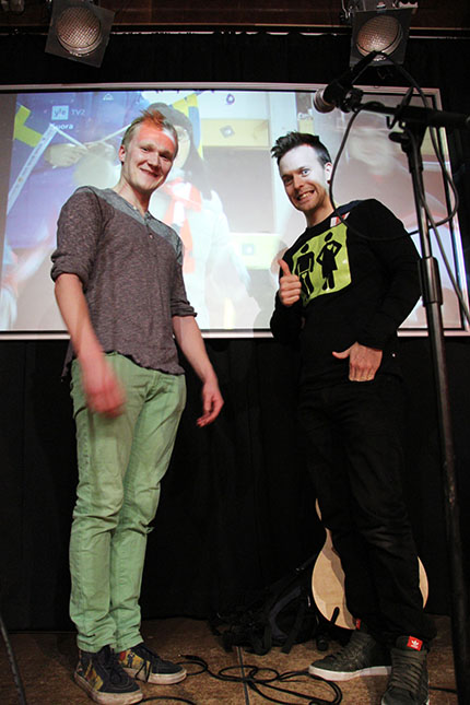 Heikki Mäkäräinen, 26, ja Anssi Valikainen, 27, eli Et Muista Kuitenkaan eli EMK.